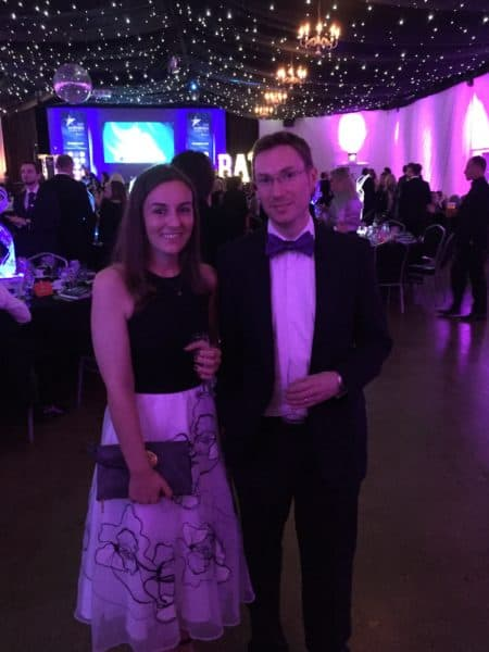 James Eades & Becky Land Bath Business Awards