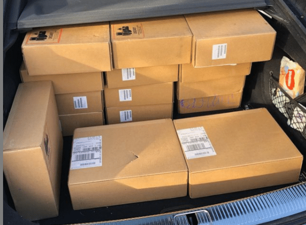 Boot full of laptops